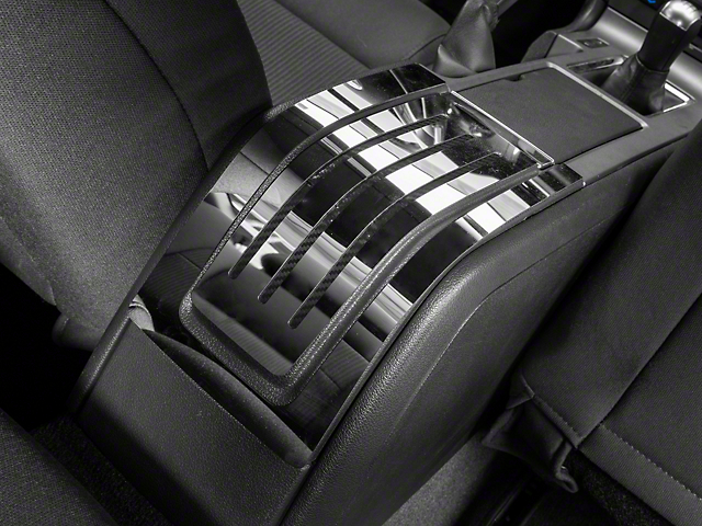 Polished Rear Center Console Trim - Carbon Fiber Inlay (10-14 All)