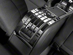 Polished Rear Center Console Trim; Carbon Fiber Inlay (10-14 All)