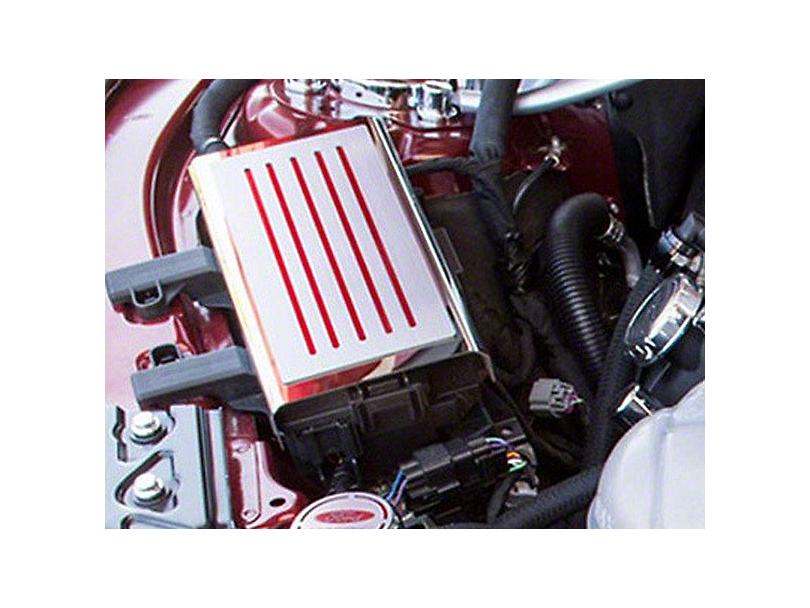 ACC Polished/Brushed Fuse Box Cover - Red Carbon Fiber Inlay (15-18 All)