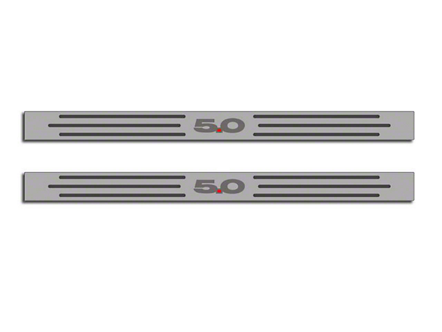 ACC Polished/Brushed Stainless Door Sill Covers w/ 5.0 Logo (10-14 All)