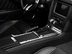 Center Console Plate with Polished Trim; Brushed (10-14 w/ Automatic Transmission)