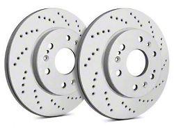 SP Performance Cross-Drilled Rotors w/ Gray ZRC Coating - Front Pair (07-18 Jeep Wrangler JK)