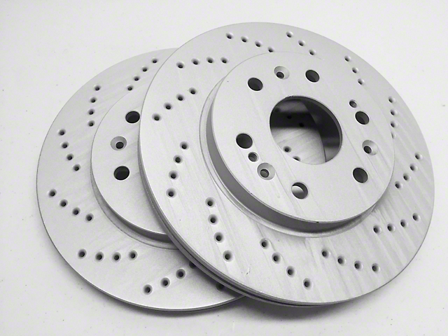 Cross Drilled Rotors >> Sp Performance Mustang Cross Drilled Rotors W Gray Zrc Front Pair