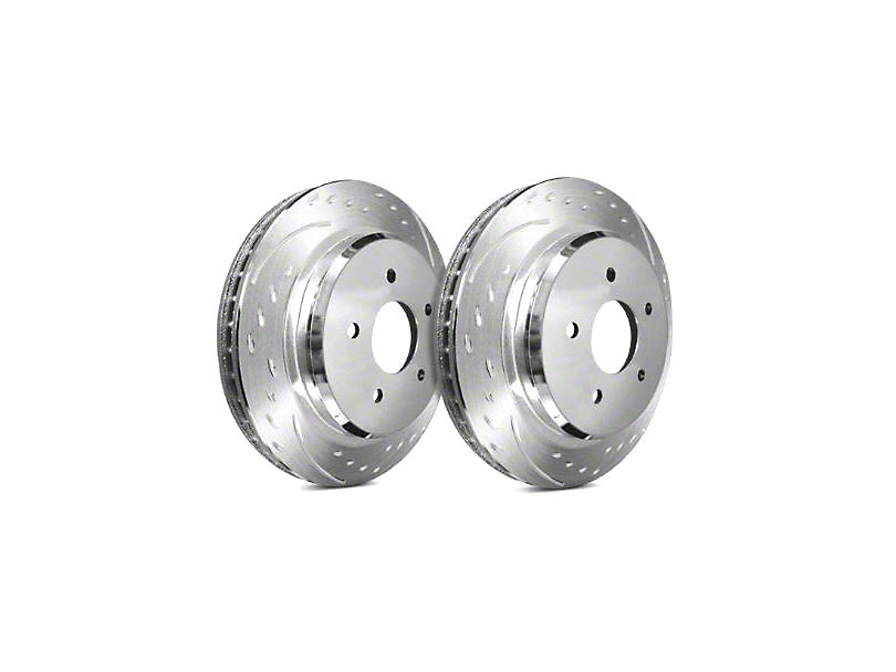 SP Performance Diamond Slot Rotors with Silver Zinc Plating; Front Pair (90-06 Jeep Wrangler YJ & TJ)