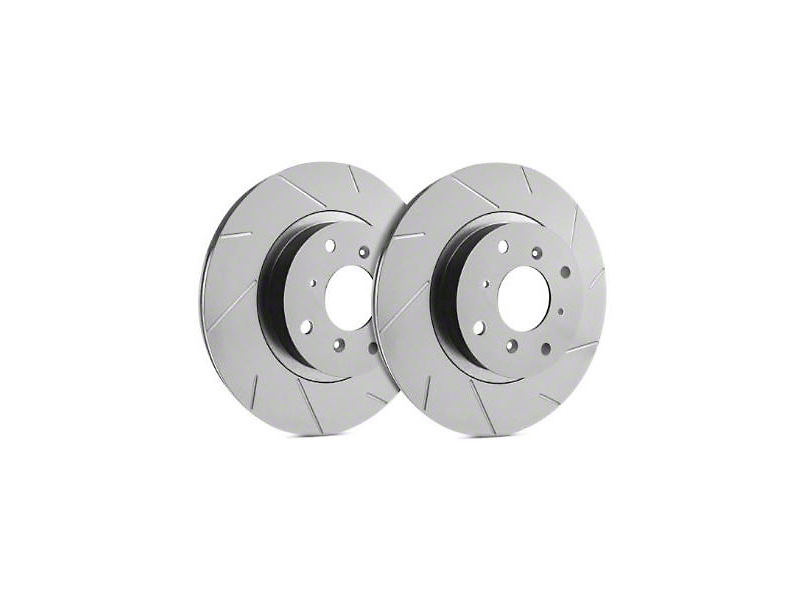 SP Performance Slotted Rotors with Gray ZRC Coating; Rear Pair (03-06 Jeep Wrangler TJ)
