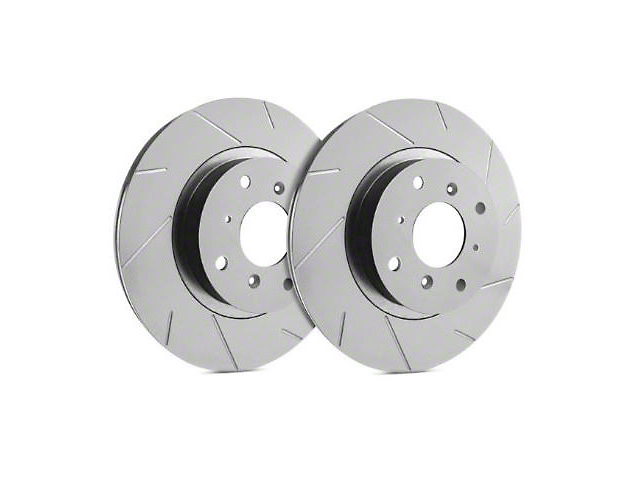 SP Performance Slotted Rotors with Gray ZRC Coating; Front Pair (07-18 Jeep Wrangler JK)