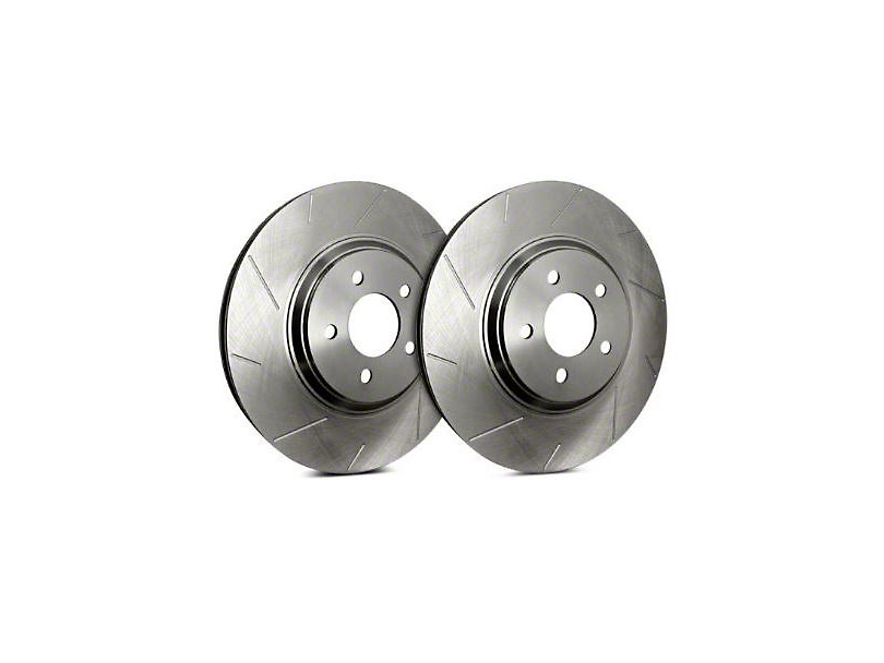 SP Performance Slotted Rotors with Silver Zinc Plating; Rear Pair (03-06 Jeep Wrangler TJ)