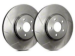 SP Performance Slotted 6-Lug Rotors with Silver Zinc Plating; Front Pair (10-20 F-150)
