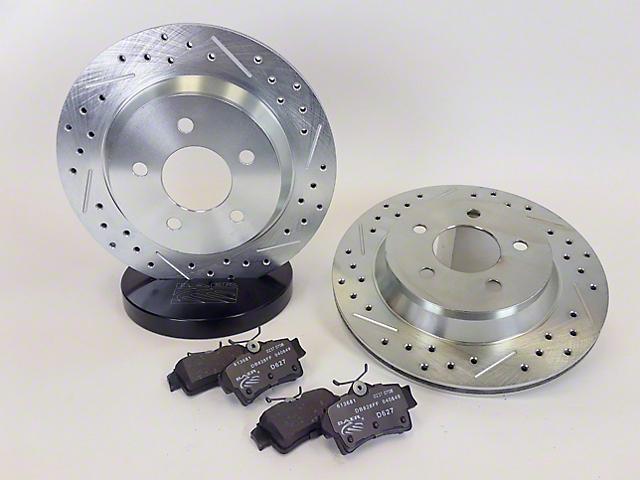Baer Sport Brake Rotor and Pad Kit; Rear (94-04 Cobra, Bullitt, Mach 1)