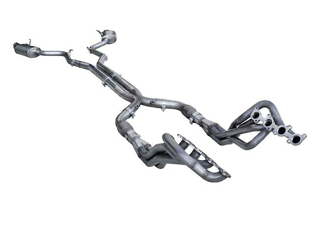 American Racing Headers 1-7/8 in. Long Tube Catted Headers w/ X-Pipe & Pure Thunder Cat-Back Exhaust (15-17 GT)