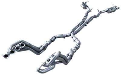 American Racing Headers 1-7/8 in. Long Tube Catted Headers w/ X-Pipe & Pure Thunder Cat-Back Exhaust (15-18 GT350)