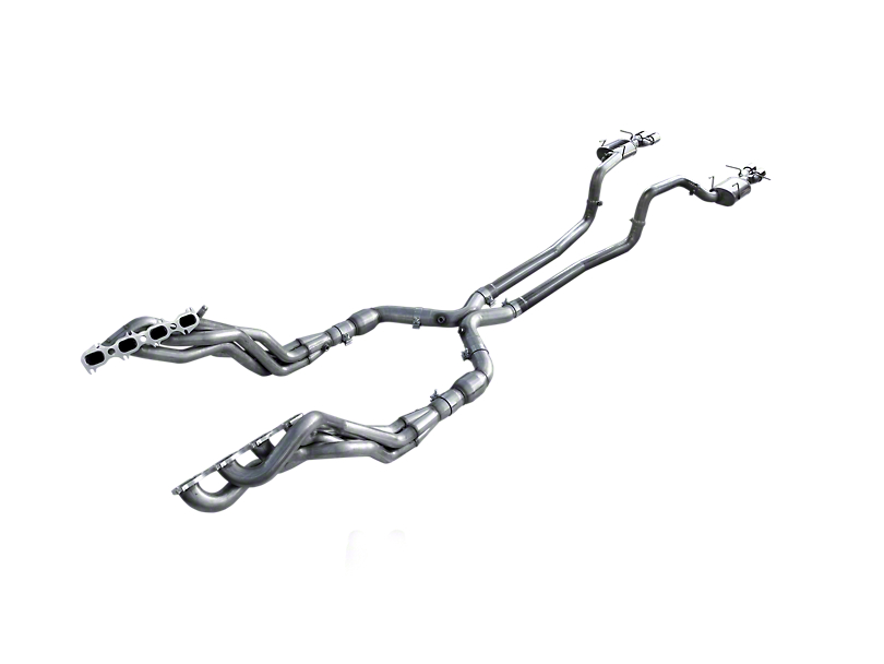 American Racing Headers 1-7/8 in. Long Tube Headers w/ Catted X-Pipe & Pure Thunder Cat-Back Exhaust System (13-14 GT500)
