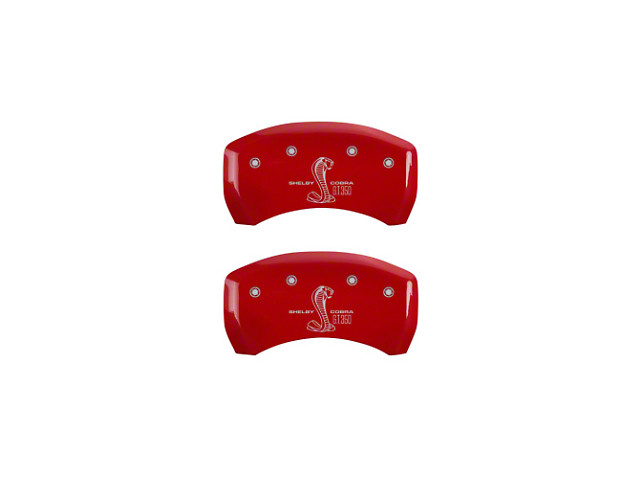 MGP Red Caliper Covers with Shelby GT350 Logo; Rear (05-14 All)