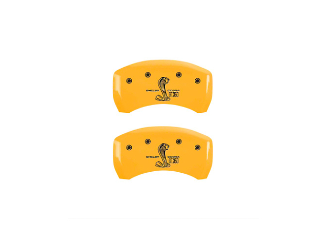 MGP Yellow Caliper Covers w/ Shelby GT350 Logo - Rear (05-14 All)