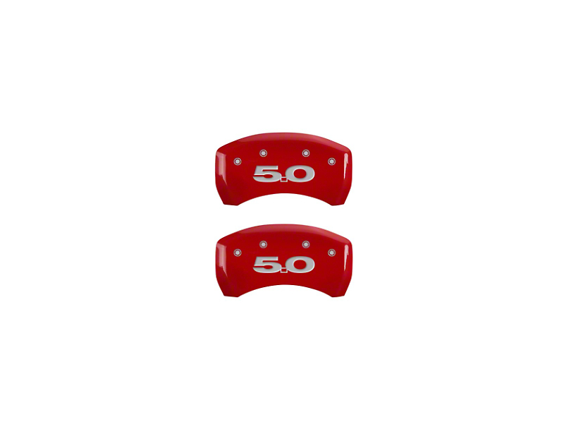 MGP Red Caliper Covers with 5.0 Logo; Rear (11-14 GT)