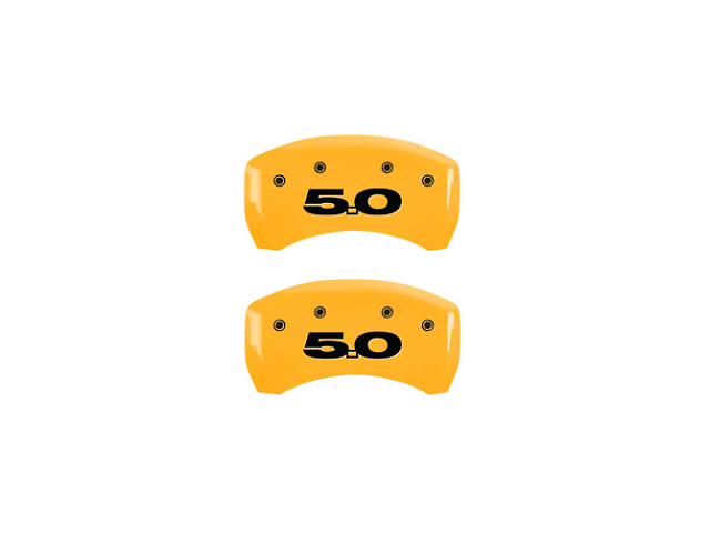 MGP Yellow Caliper Covers w/ 5.0 Logo - Rear (11-14 GT)