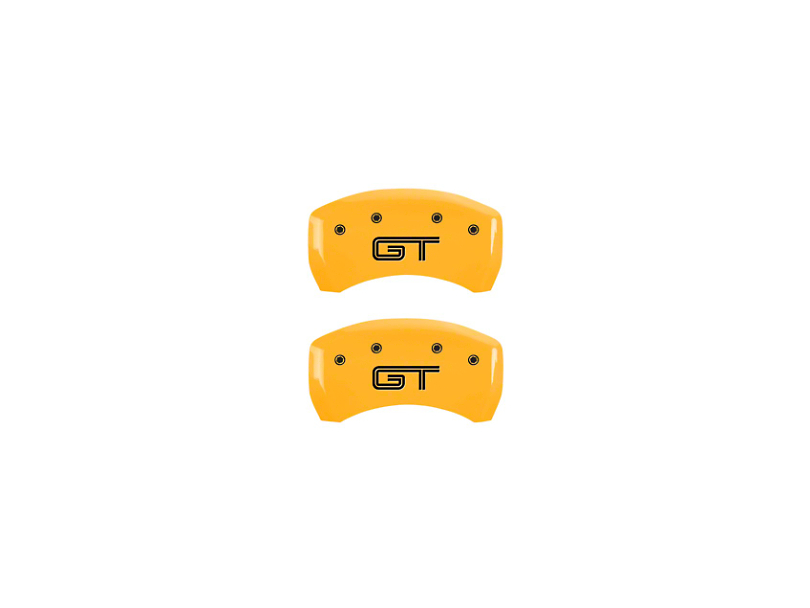 MGP Yellow Caliper Covers w/ GT Logo - Rear (05-14 GT)
