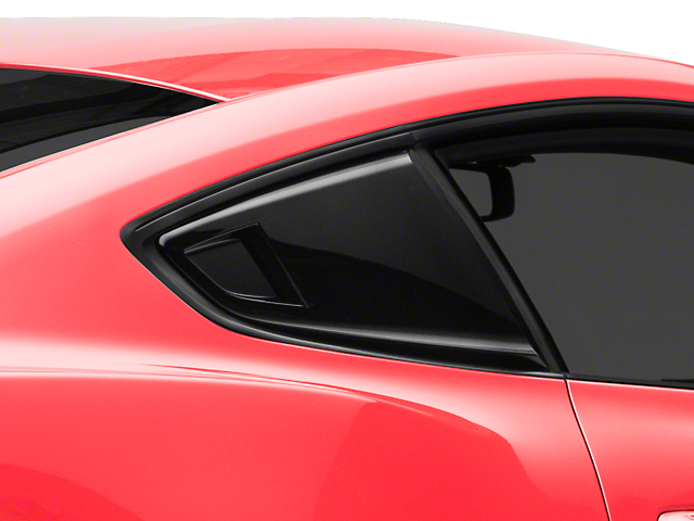 MP Concepts Quarter Window Scoops; Gloss Black (15-20 Fastback)