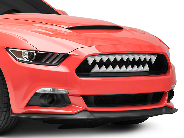 Shark Bite Grille with Red LED Lighting (15-17 GT, EcoBoost, V6)