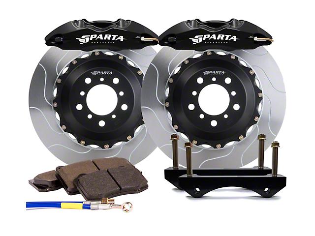 Sparta Evolution Saturn Front Big Brake Kit; Black Calipers (05-14 All)