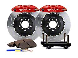 Sparta Evolution Saturn Front Big Brake Kit; Red Calipers (05-14 All)