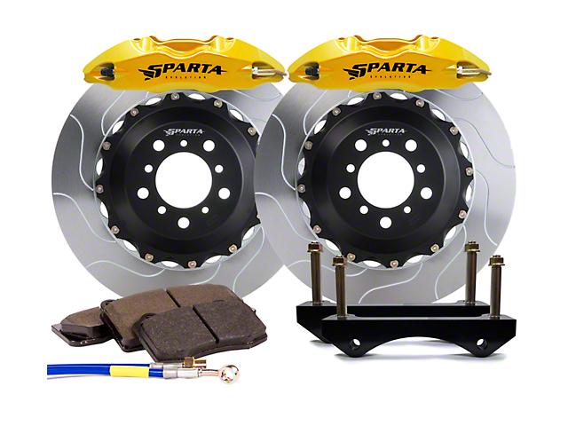 Sparta Evolution Saturn Front Big Brake Kit; Yellow Calipers (05-14 All)