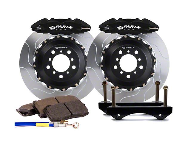 Sparta Evolution Saturn Front Big Brake Kit; Black Calipers (15-21 All)