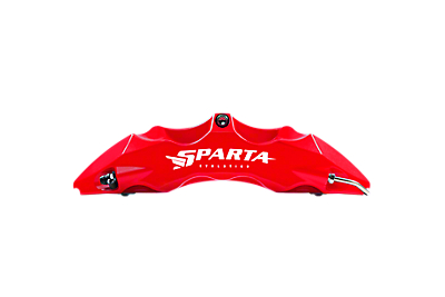 Sparta Evolution Saturn Front Big Brake Kit - Red (15-19 All)