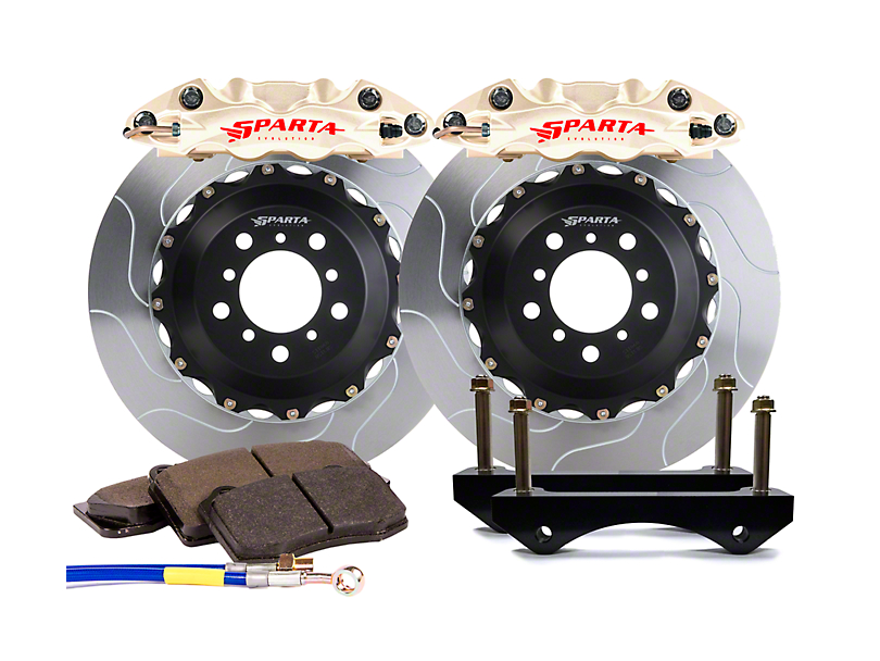 Sparta Evolution Triton Front Big Brake Kit - Nickel Alloy Calipers (05-14 All)
