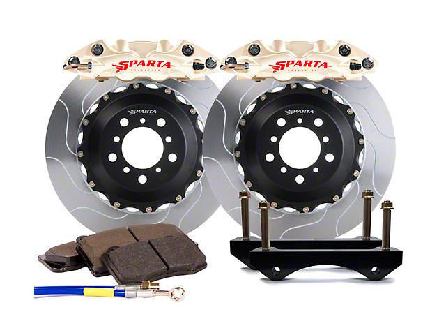 Sparta Evolution Triton Front Big Brake Kit; Nickel Alloy Calipers (05-14 All)