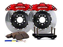 Sparta Evolution Triton Front Big Brake Kit; Red Calipers (05-14 All)