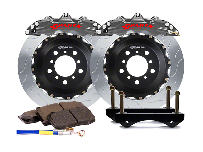 Sparta Evolution Triton-R Front Big Brake Kit - Stealth Gray (15-19 All)