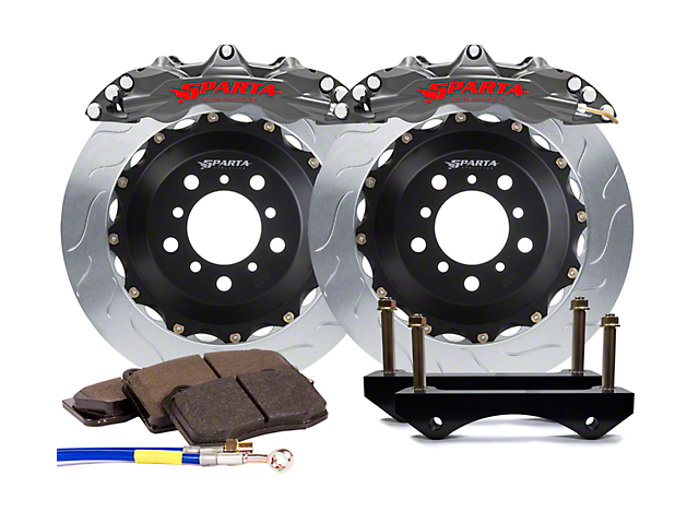 Sparta Evolution Triton-R Front Big Brake Kit - Stealth Gray (15-18 All)