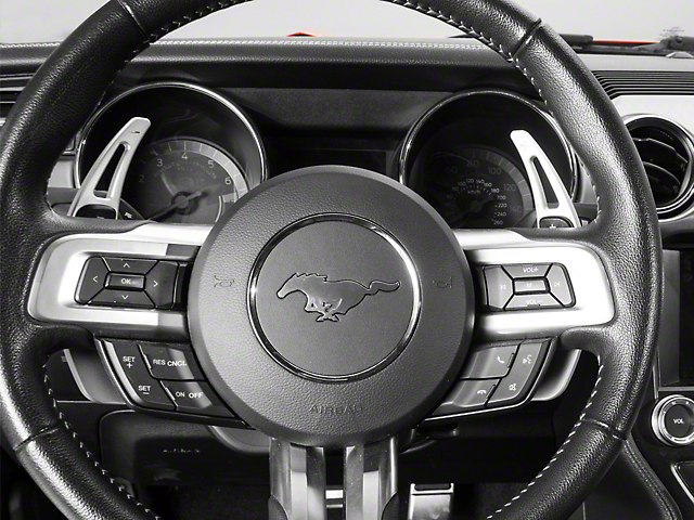 MMD Paddle Shifter Extensions; Silver (15-20 GT, EcoBoost, V6)