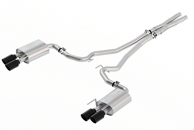 Ford Performance by Borla Sport Cat-Back Exhaust w/ Black Tips (18-19 GT w/o Active Exhaust)