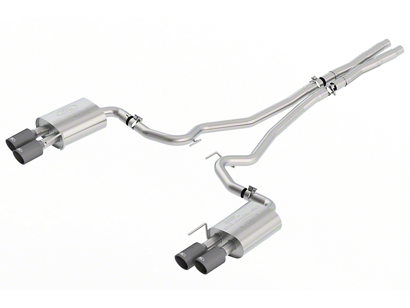 Ford Performance by Borla Sport Cat-Back Exhaust w/ Carbon Fiber Tips (18-19 GT w/o Active Exhaust)