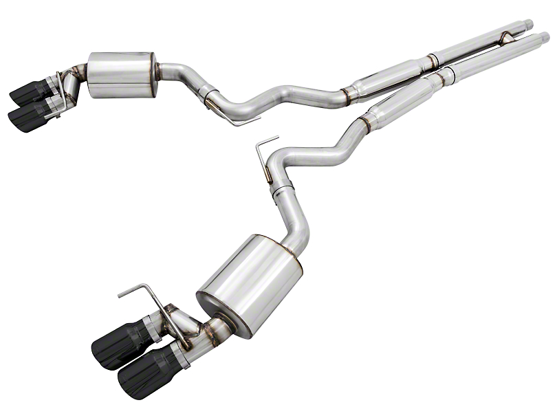 AWE Touring Edition Cat-Back Exhaust w/ Diamond Black Tips (18-19 GT Fastback w/o Active Exhaust)