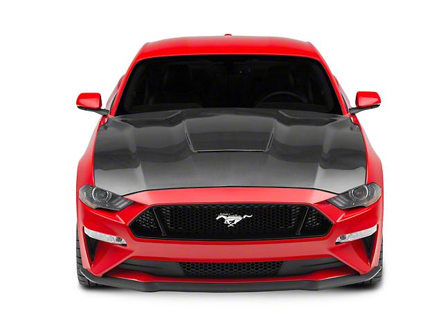Anderson Composites Type-GR GT350 Style Hood - Carbon Fiber (18-19 GT, EcoBoost)