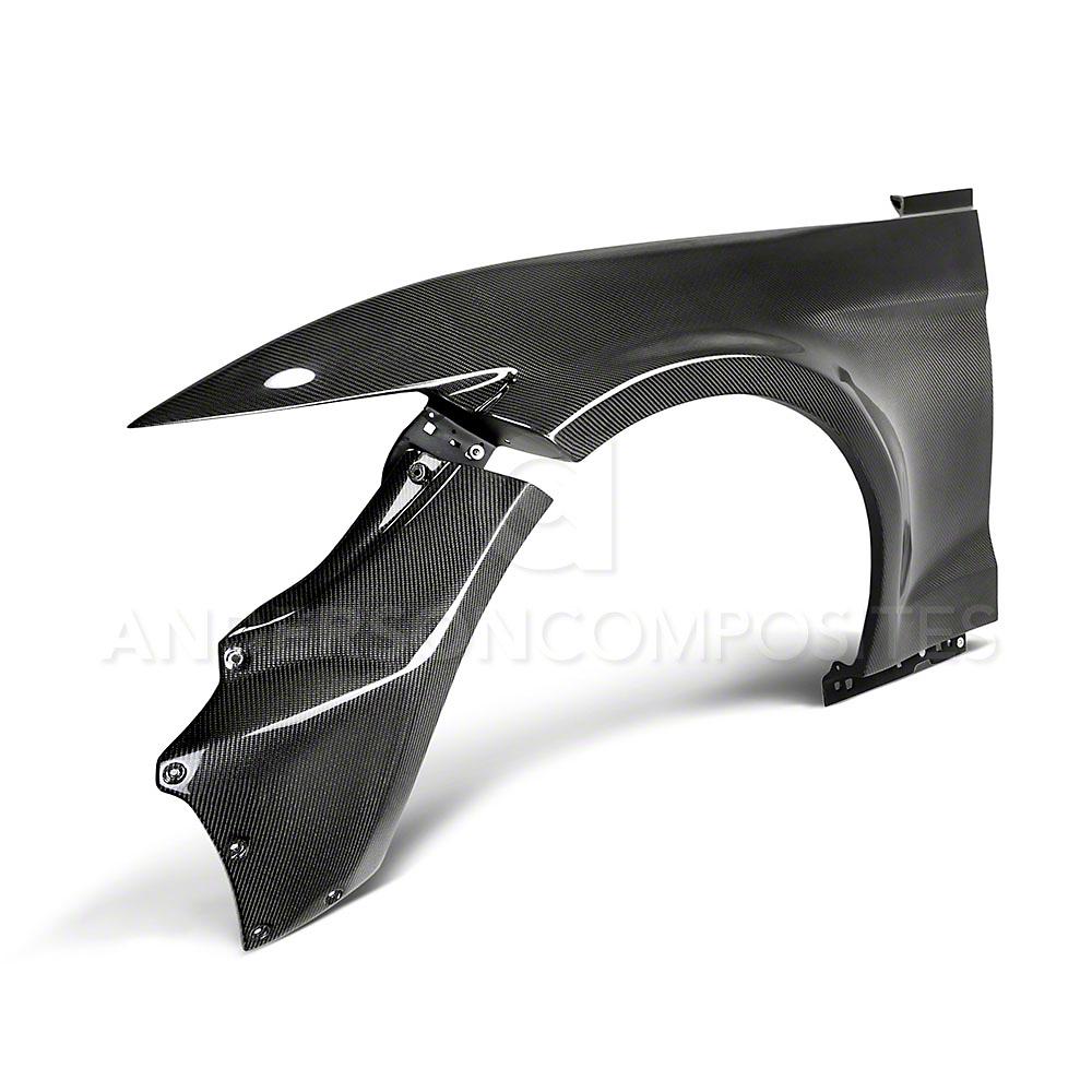 Anderson Composites Type-JTP Wide Fender Flares - Carbon Fiber (15-17 w/ Roush Fascia)