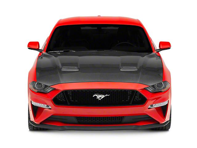 Anderson Composites Type-OE Hood; Carbon Fiber (18-20 GT, EcoBoost)