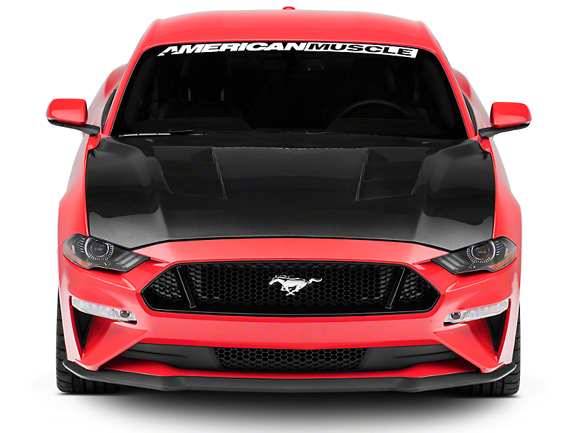Anderson Composites Type-SA Heat Extractor Hood - Carbon Fiber (18-19 GT, EcoBoost)