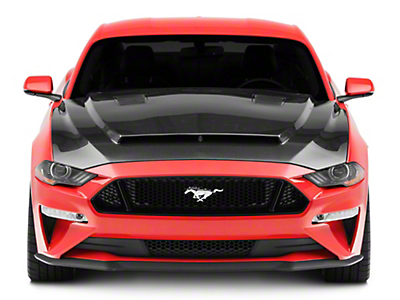 Anderson Composites Type-SN SuperSnake Style Hood - Carbon Fiber (18-19 GT, EcoBoost)