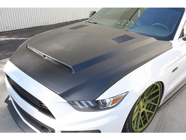 Anderson Composites Type-SN SuperSnake Style Hood - Unpainted (15-17 GT, EcoBoost, V6)