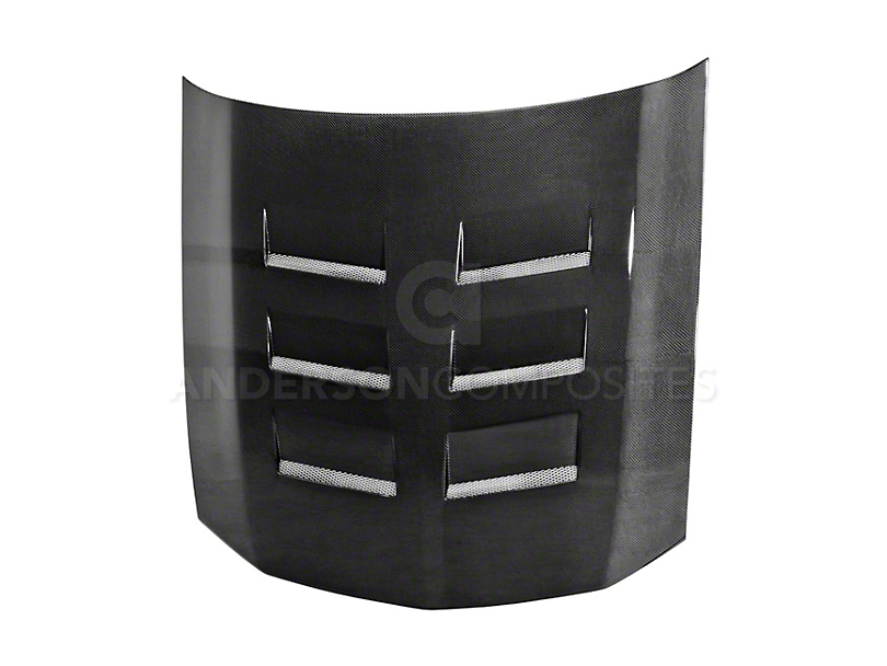 Anderson Composites Type-TS Hood - Carbon Fiber (05-09 GT, V6)