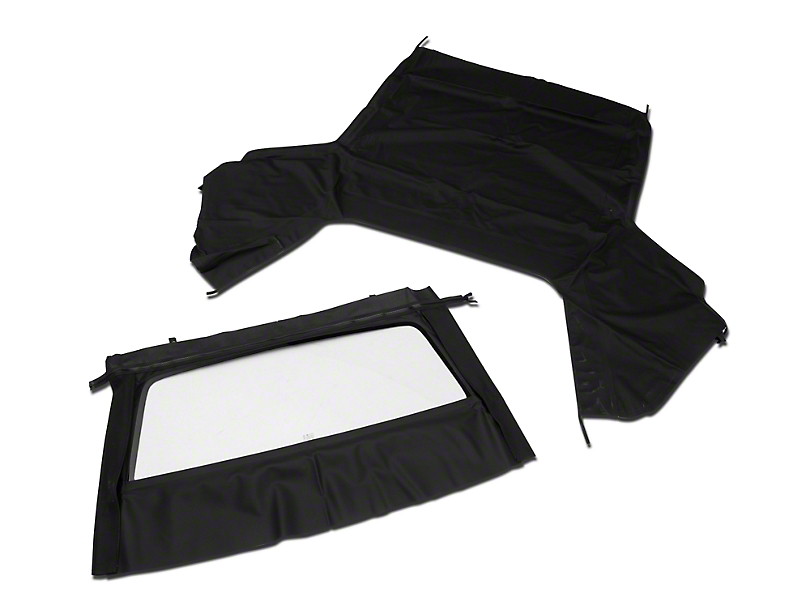 OPR Convertible Top with Tinted Glass; Pinpoint Black (91-93 Convertible)
