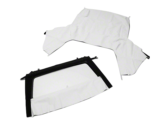 OPR Convertible Top w/ Tinted Glass - Pinpoint White (91-93 Convertible)