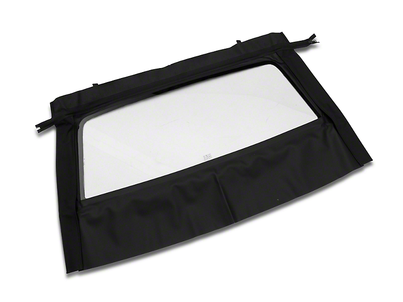 OPR Curtain with Tinted Glass; Pinpoint Black (83-93 Convertible)