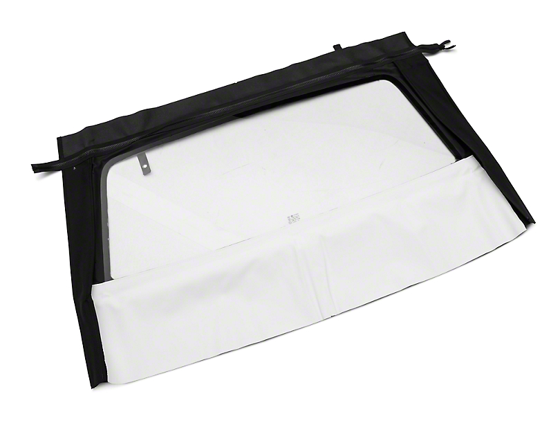 OPR Curtain with Tinted Glass; Pinpoint White (83-93 Convertible)