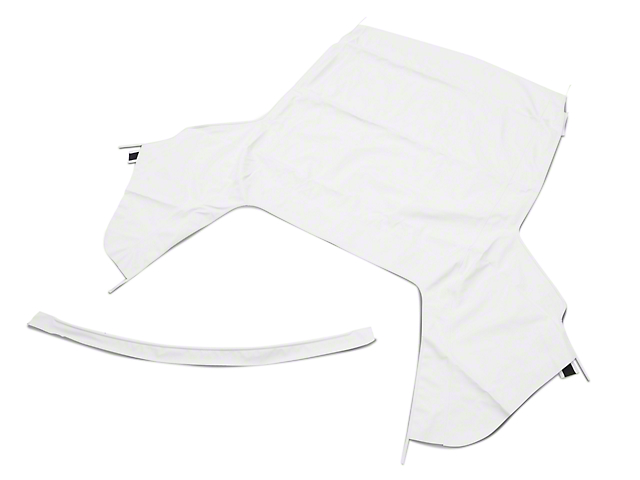 OPR Convertible Top Only; Pinpoint White (91-93 Convertible)