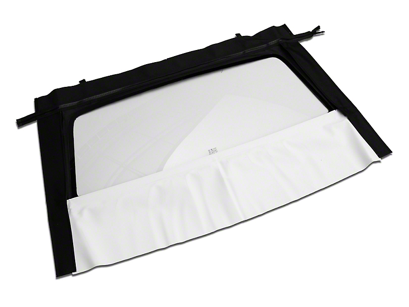 OPR Curtain with Heated Glass; Sailcloth White (94-04 Convertible)